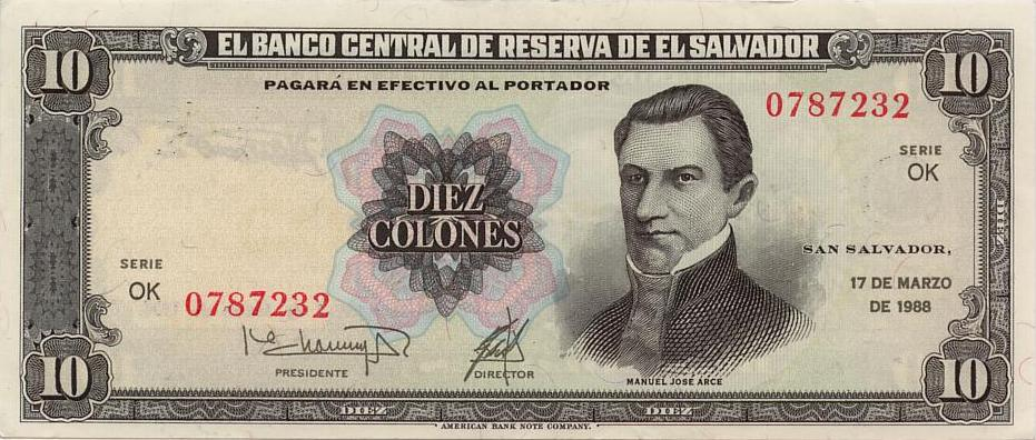 Wills Online World Paper Money Gallery El Salvador